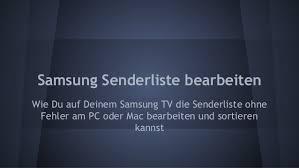 Bearbeiten Sie die Samsung TV-Programmliste mit der SamToolBox